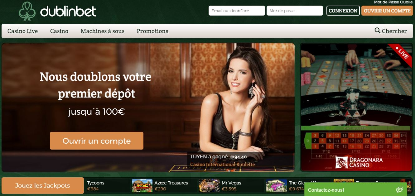 Casino DublinBet : un casino fiable disponible en France !