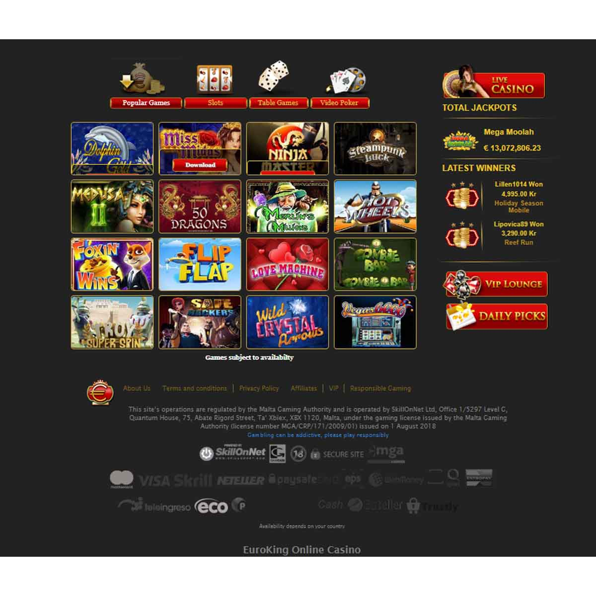 euro king casino avis