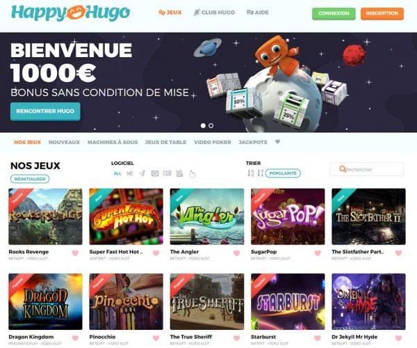 Happy Hugo : un casino intéressant pour les Français ?